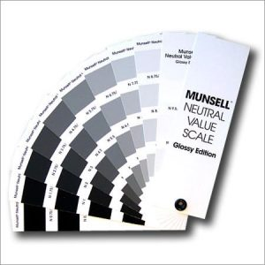Munsell – neutral value scale glossy finish