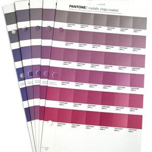 Pantone – metallic chips coated