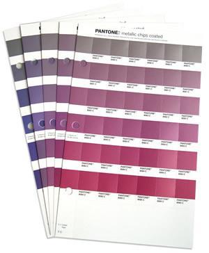 Pantone – metallic chips coated